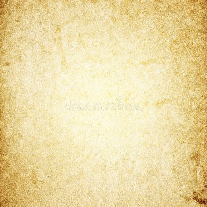 Schmutzhintergrund des alten braunen Papiers, Papierbeschaffenheit, Retro-, vinta stock abbildung