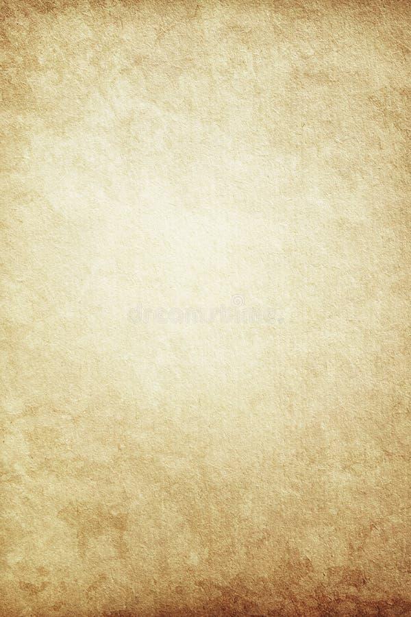 Schmutzhintergrund des alten braunen Papiers, Seite, freier Raum, Retro-, vintag lizenzfreie abbildung