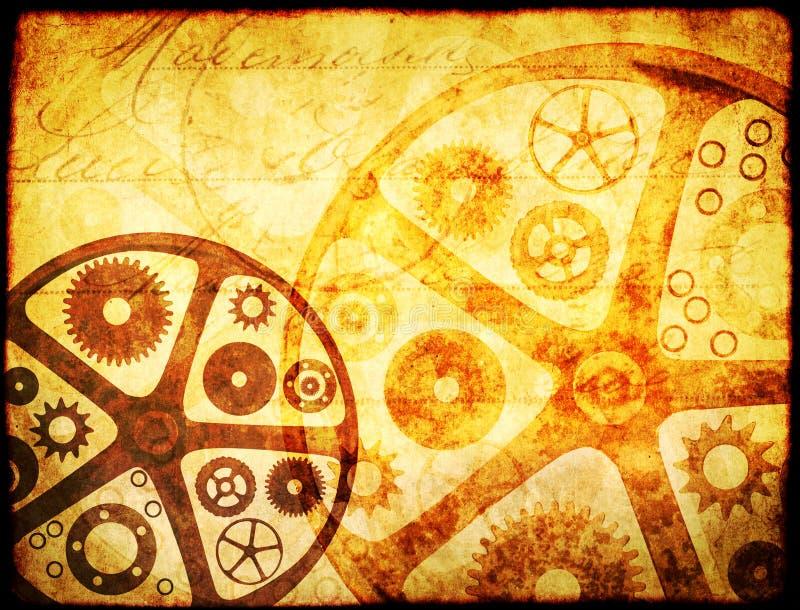 Schmutzhintergrund in steampunk Art stockfoto