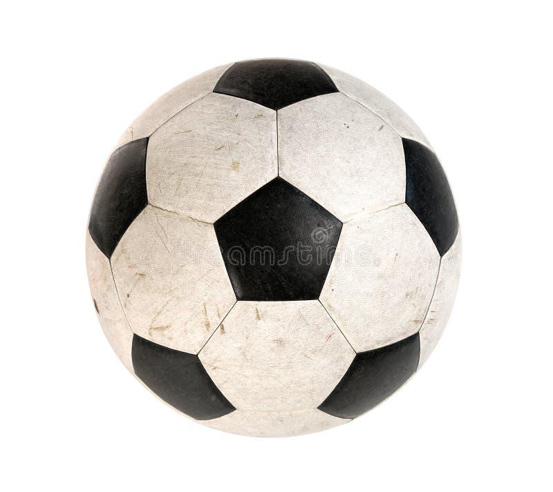 Schmutzige Fußballkugel stockfoto