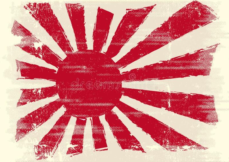 Schmutzige Japan-Markierungsfahne stock abbildung