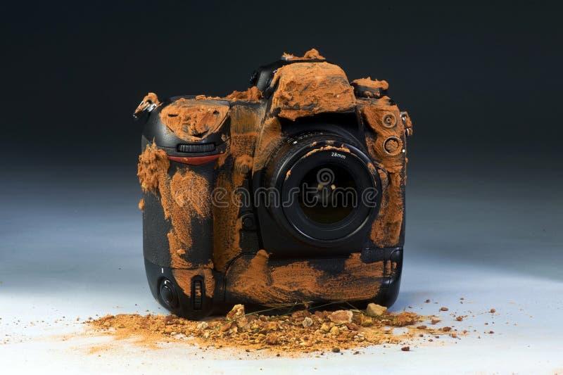 Schmutzige Kamera. lizenzfreies stockfoto