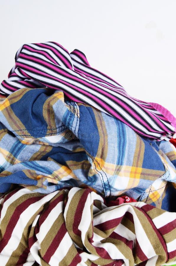 Schmutzige Kleidung stockbilder