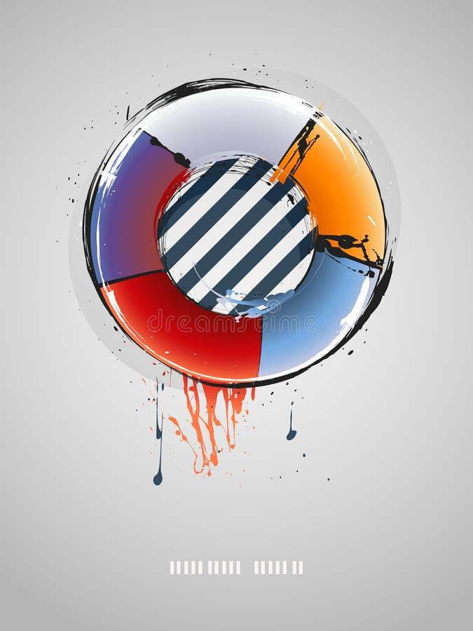 Schmutziger abstrakter grunge Hintergrund stock abbildung
