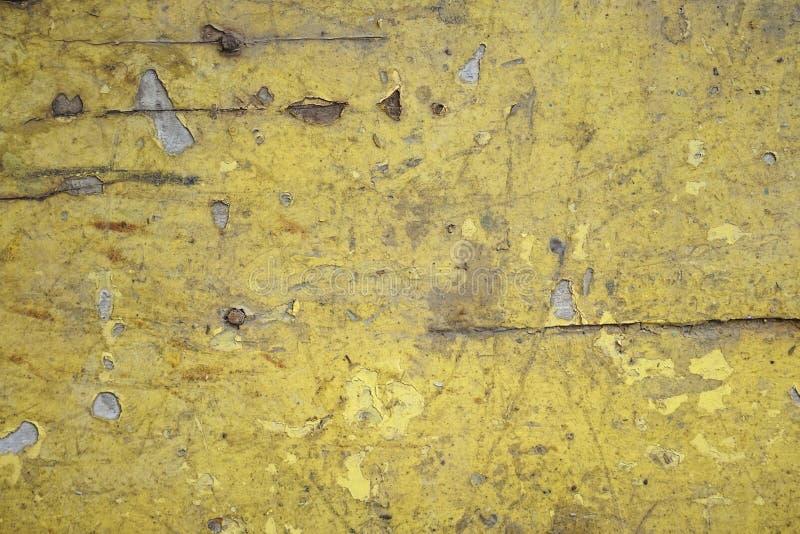 Schmutziger alter gelber hölzerner Hintergrund Beschaffenheit des h?lzernen Gebrauches als nat?rlicher Hintergrund lizenzfreies stockfoto