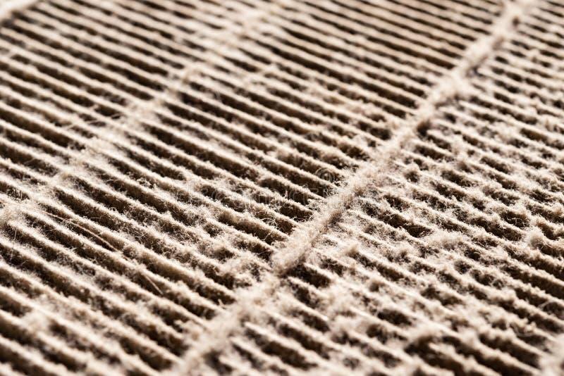 Schmutziger Luftfilterabschluß oben stockfoto