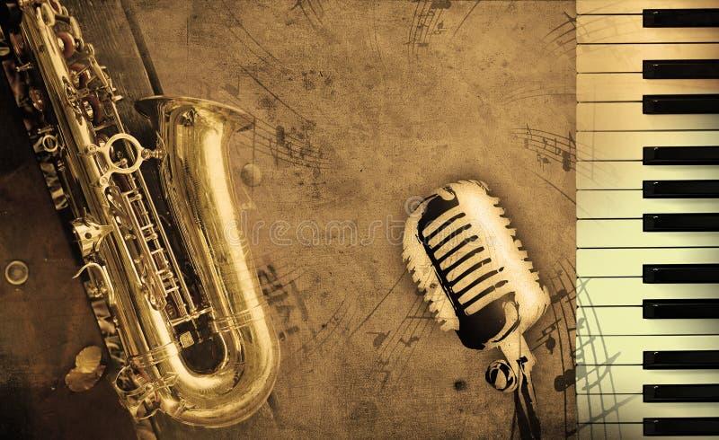 Schmutziger Musikhintergrund lizenzfreies stockbild