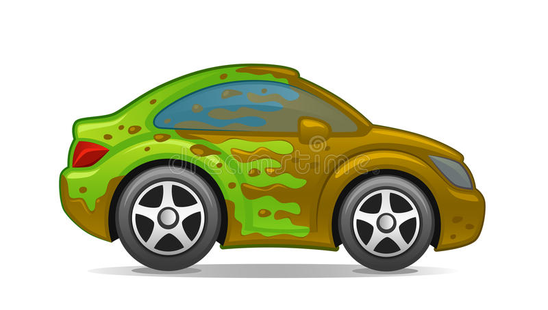 Schmutziges Auto lizenzfreie abbildung