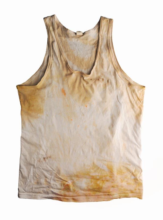 Schmutziges T-Shirt lizenzfreies stockbild
