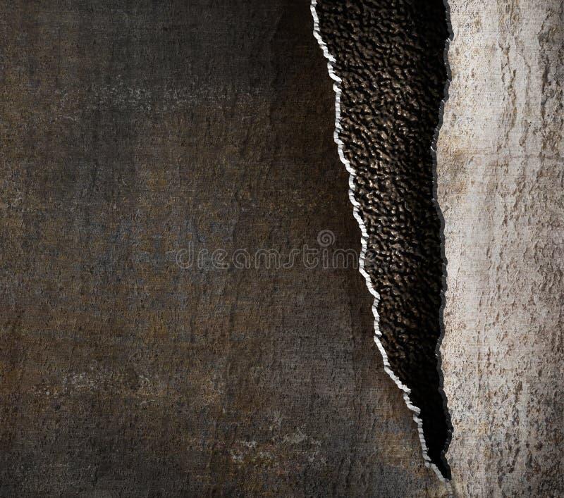Schmutzmetallhintergrund mit heftigen Rändern stockfotografie