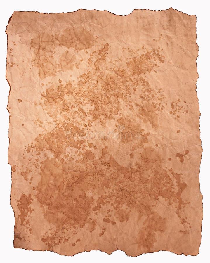 SchmutzPergamentpapier, Beschaffenheit, Hintergrund stockfotografie