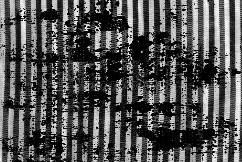 Schmutzschmutzige Schwarzweiss-Nahaufnahme der abgestreiften Gewebebeschaffenheit lizenzfreies stockbild