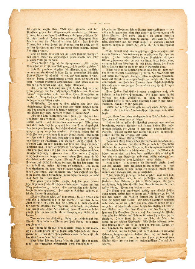 Schmutzseite des unbestimmten antiken Buches mit deutschem Text stockbild