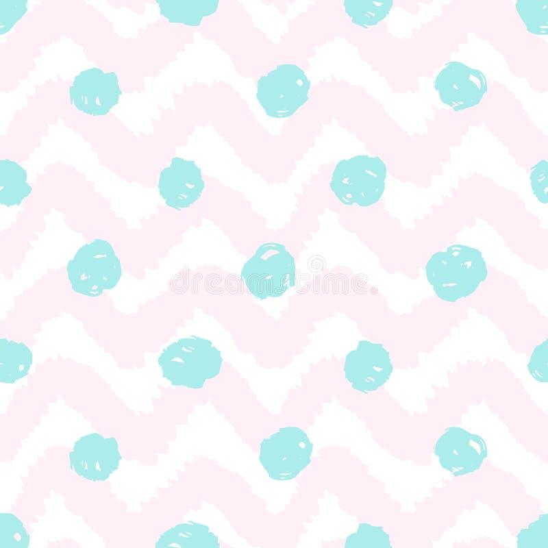Schmutzsparren und nahtloses Muster der Tupfen lizenzfreie abbildung