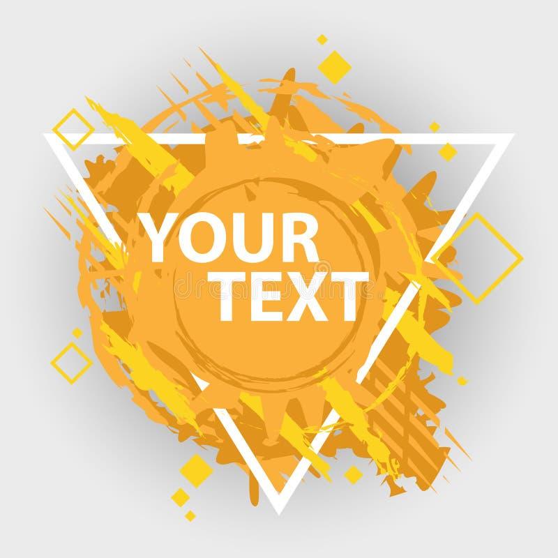 Schmutzspritzenfahne Vektor plätschern Aufkleber mit Raum für Text Grunge Kennsatz lizenzfreie abbildung