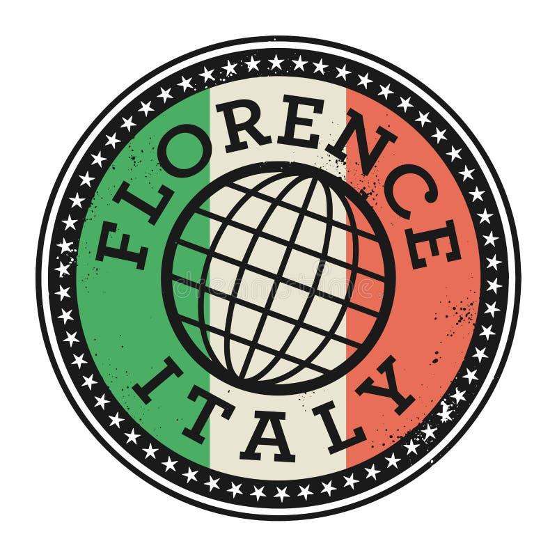 Schmutzstempel mit dem Text Florenz, Italien vektor abbildung