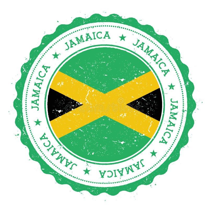 Schmutzstempel mit Jamaika-Flagge lizenzfreie abbildung