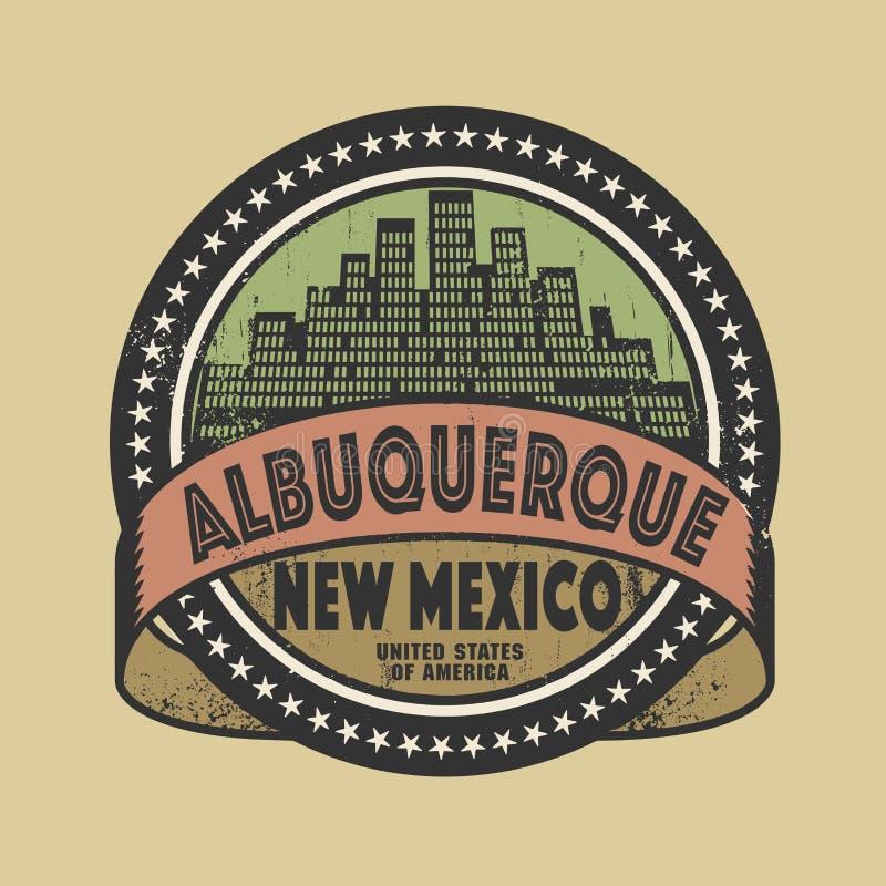 Schmutzstempel mit Namen von Albuquerque, New Mexiko vektor abbildung