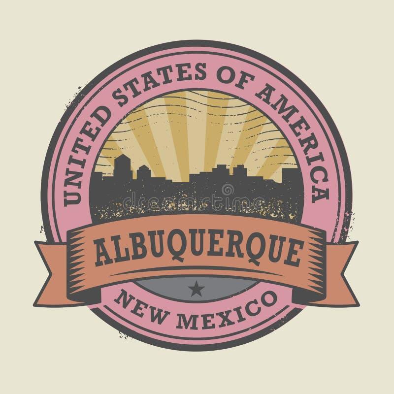 Schmutzstempel mit Namen von Albuquerque, New Mexiko lizenzfreie abbildung