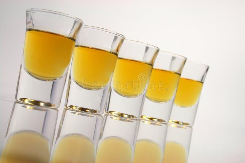 Schnapps glasses stock photos