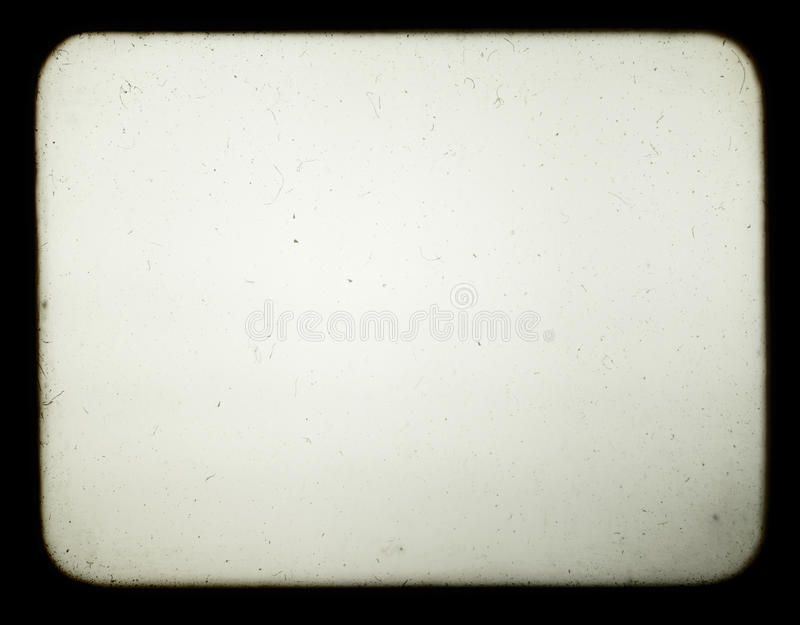Schnappschuß eines unbelegten Bildschirms des alten Diaprojektors