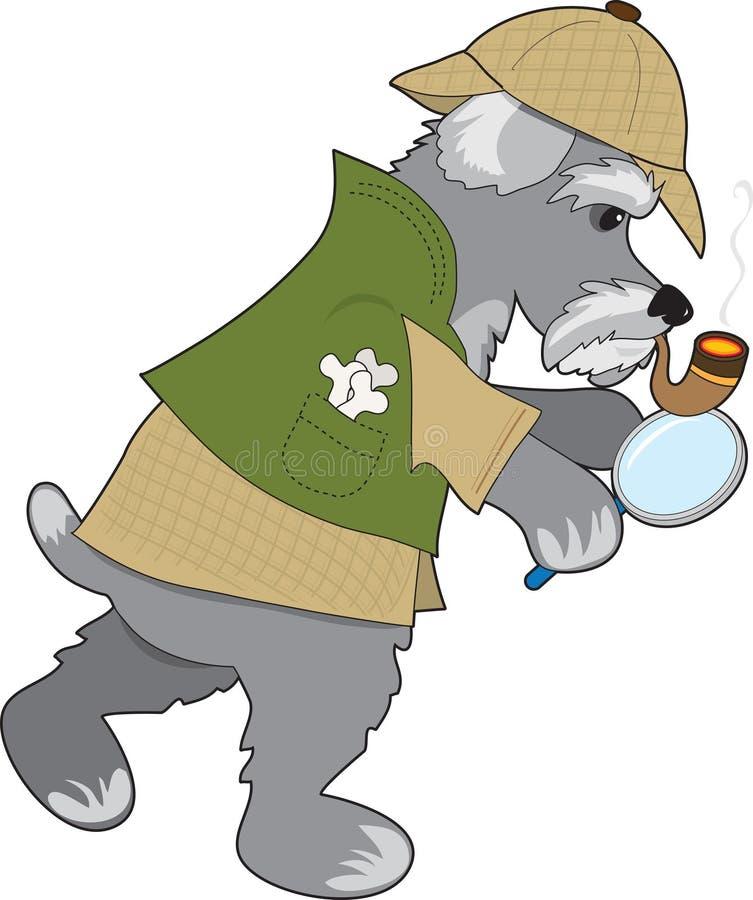 Download Schnauzer Detective stock vector. Illustration of pedigreed - 21079909