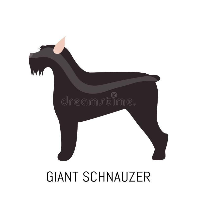 Schnauzer gigante ilustração do vetor