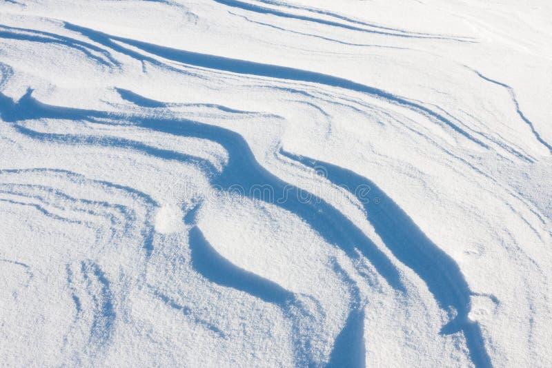 Schnee-Antrieb-Auszug stockbild