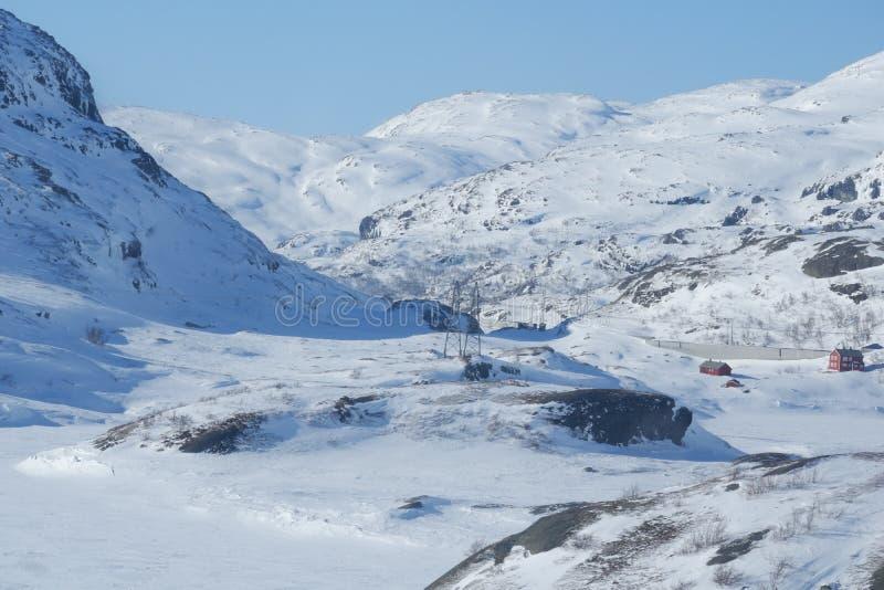 Schnee auf dem Berg im Winter lizenzfreies stockfoto