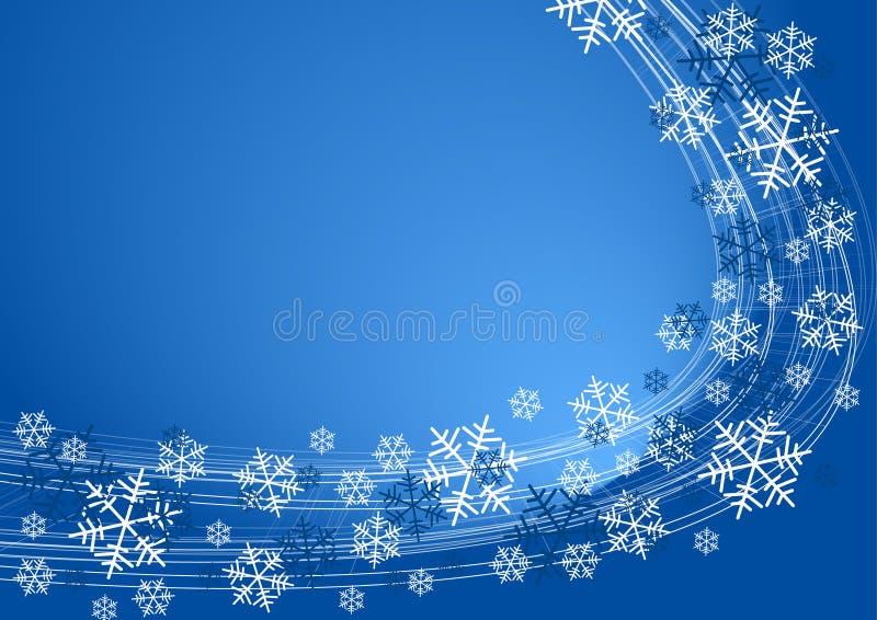 Schnee blättert Hintergrund ab lizenzfreie abbildung