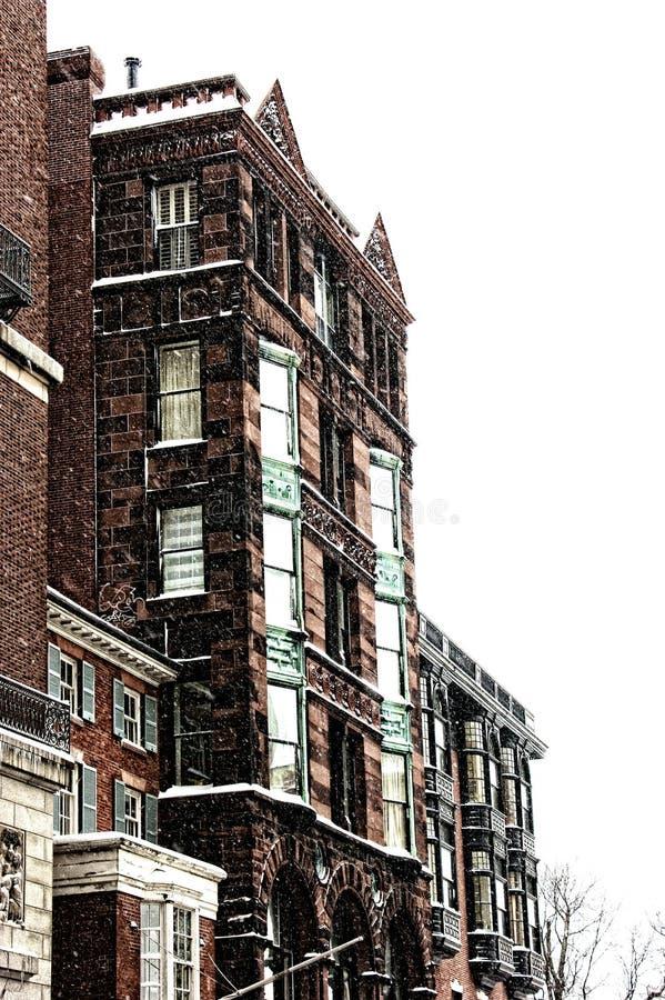 Schnee in Boston stockfoto
