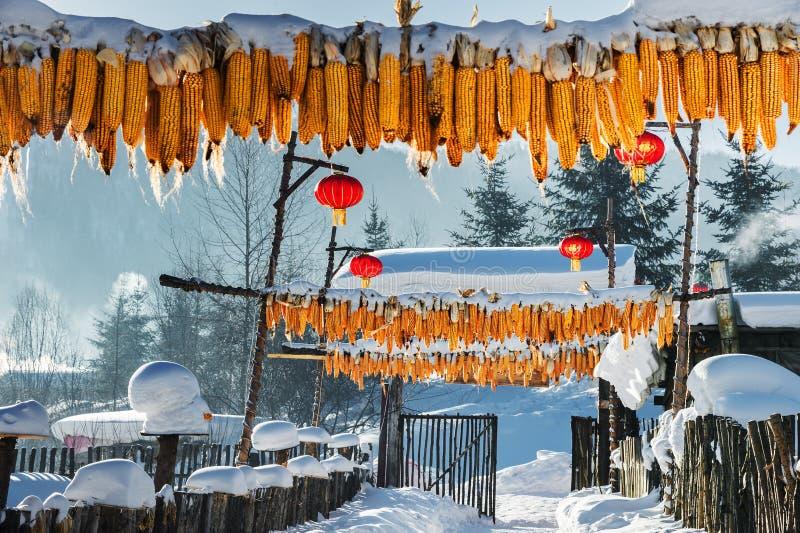 Schnee in China stockfoto