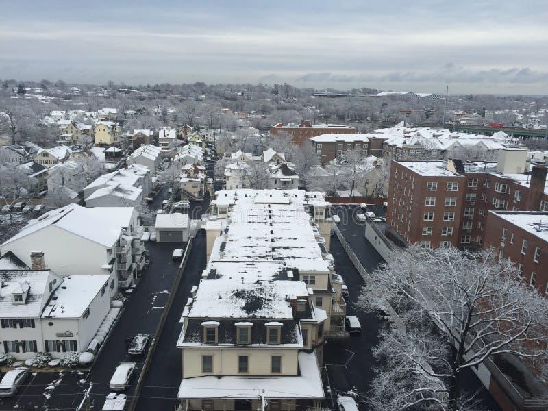 Schnee in Connecticut lizenzfreie stockfotos