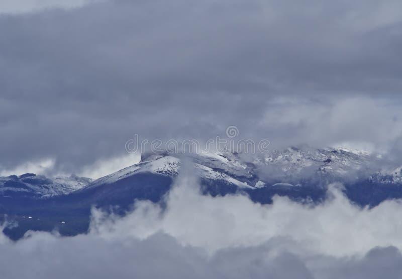 Schnee in den Kanarischen Inseln, Teneriffa, Spanien lizenzfreies stockbild