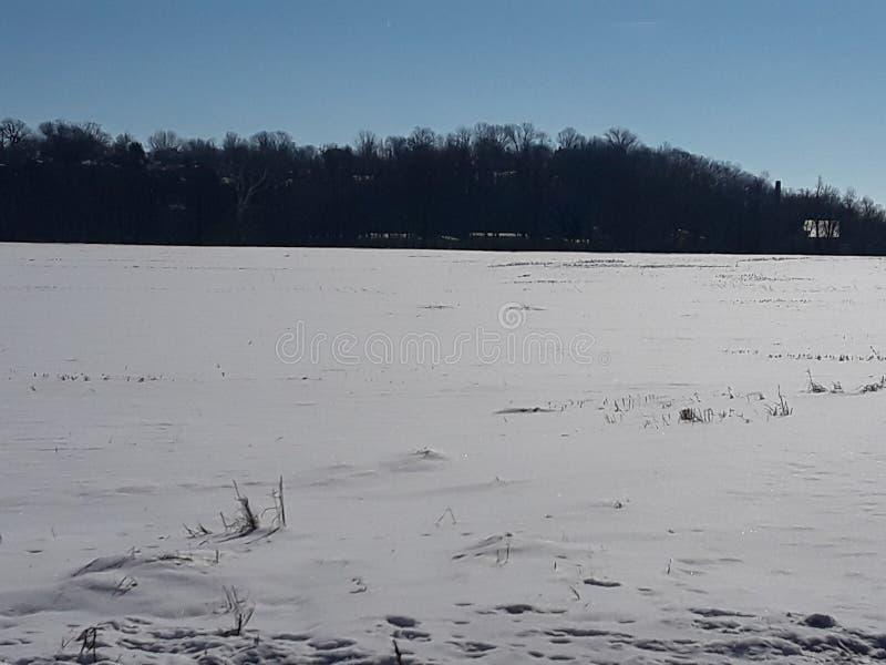 Schnee durchgesetzte Forderung stockbilder