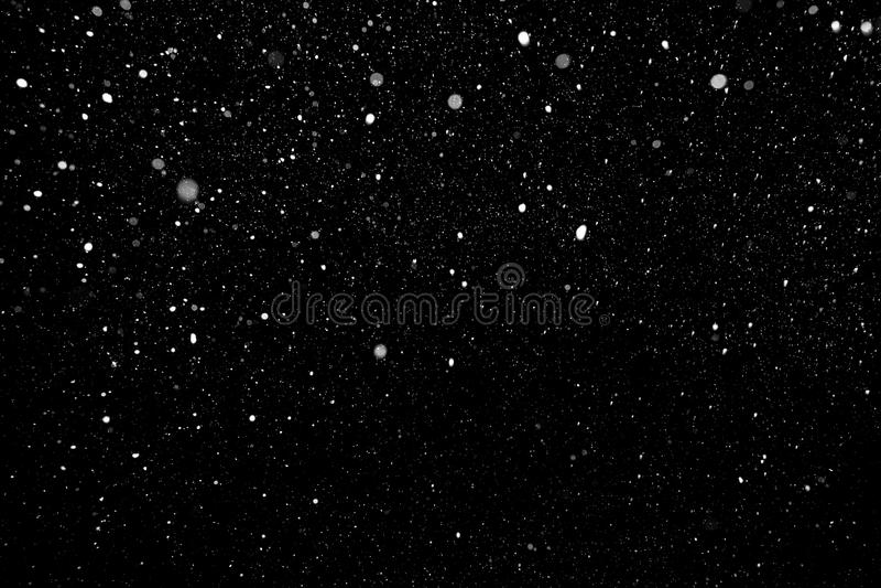 Schnee-fallender Hintergrund stockfoto