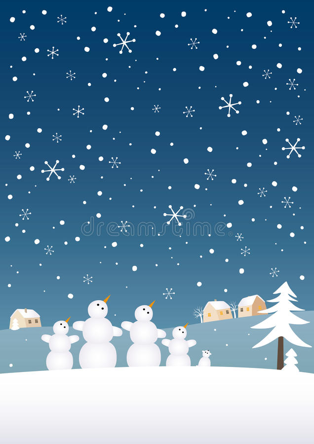 Schnee-Familie stock abbildung
