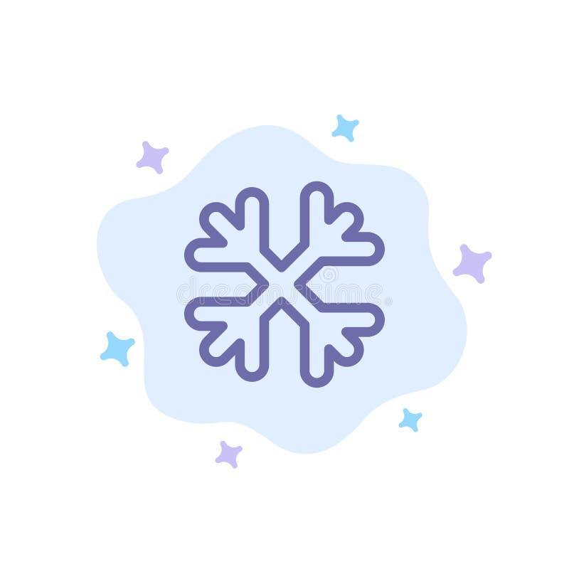 Schnee, Schnee-Flocken, Winter, blaue Ikone Kanadas auf abstraktem Wolken-Hintergrund vektor abbildung