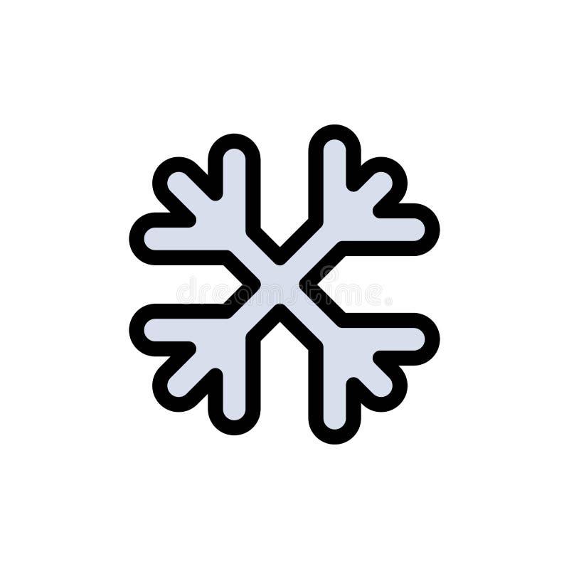 Schnee, Schnee-Flocken, Winter, flache Farbikone Kanadas Vektorikonen-Fahne Schablone lizenzfreie abbildung