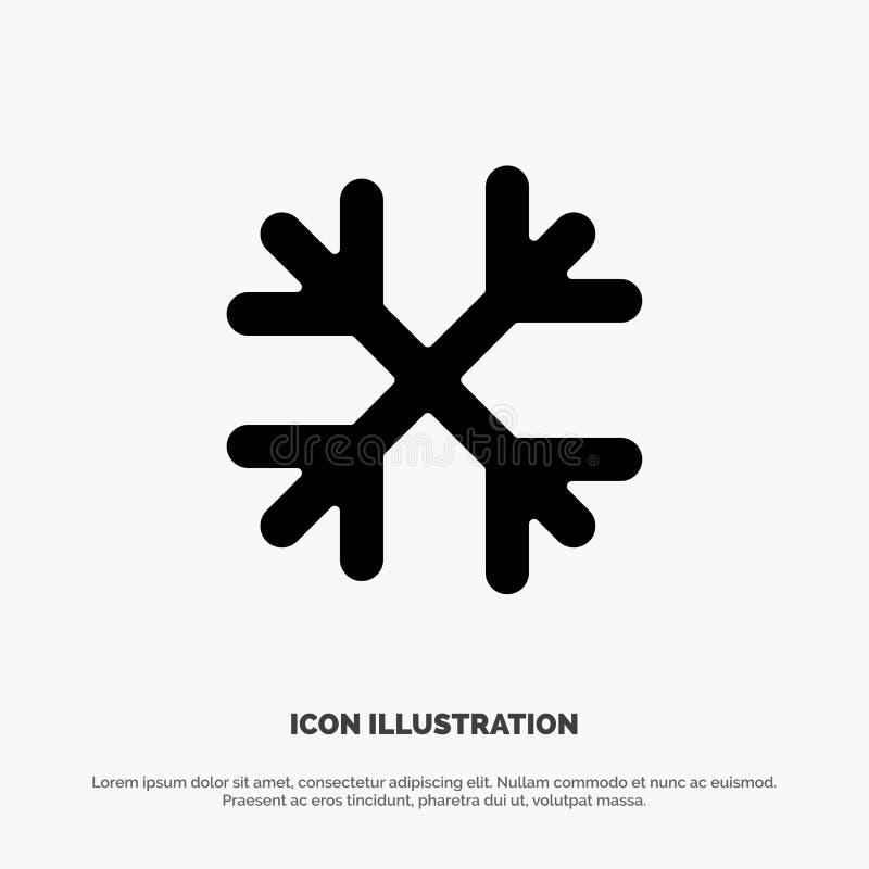 Schnee, Schnee-Flocken, Winter, Glyph-Ikonenvektor Kanadas fester lizenzfreie abbildung