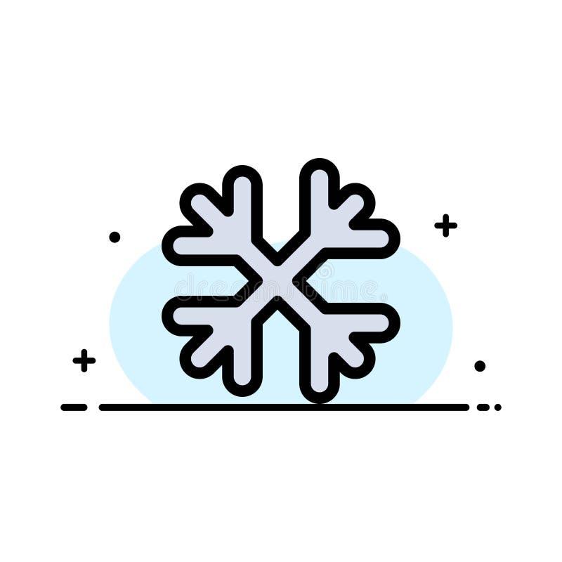 Schnee, Schnee-Flocken, Winter, Kanada-Geschäfts-flache Linie füllte Ikonen-Vektor-Fahnen-Schablone vektor abbildung