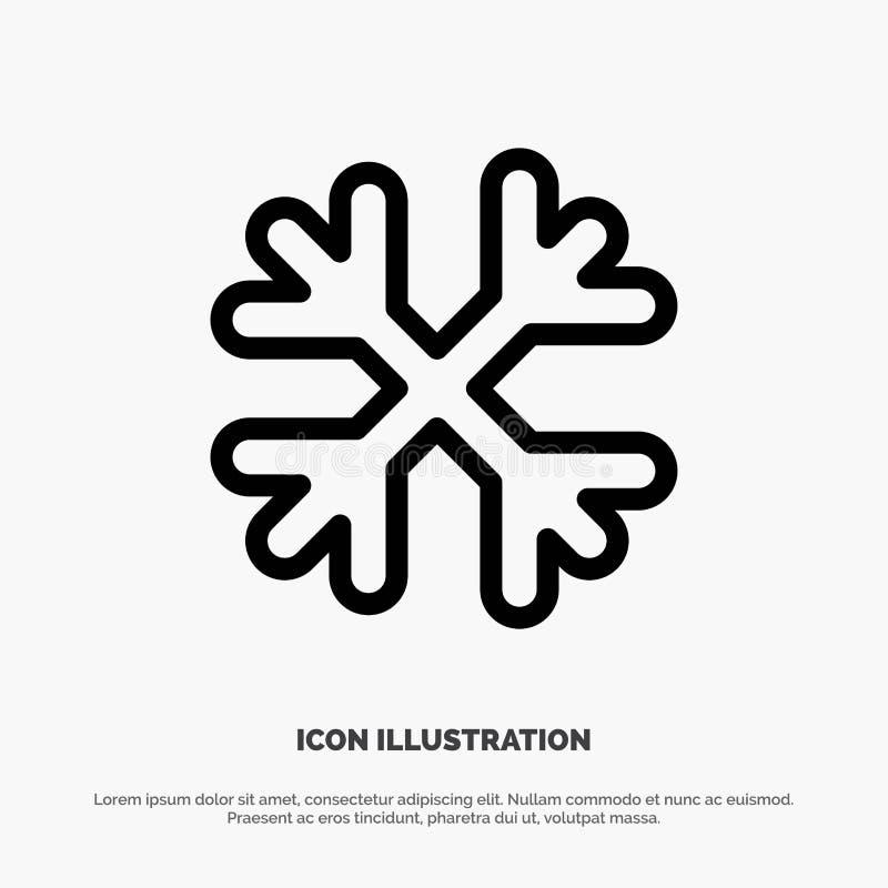 Schnee, Schnee-Flocken, Winter, Kanada-Linie Ikonen-Vektor stock abbildung