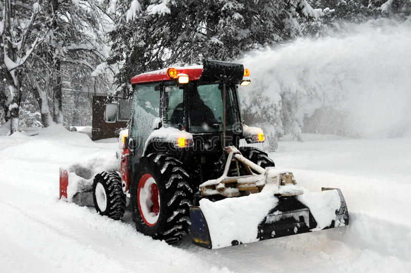 Schnee-Gebläse stockbilder