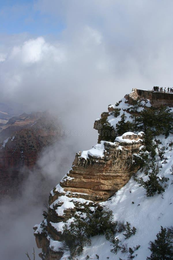 Schnee am Grand Canyon stockfoto