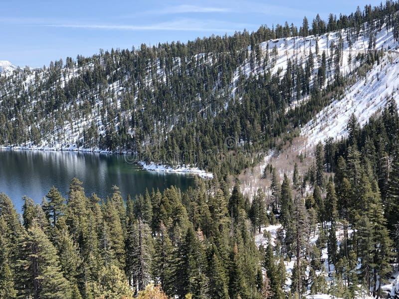 Schnee in Kalifornien lizenzfreie stockfotografie
