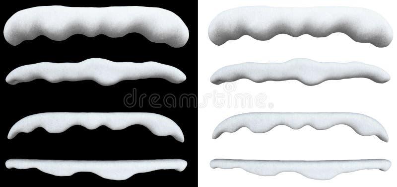 Schnee-Kappe lizenzfreie abbildung
