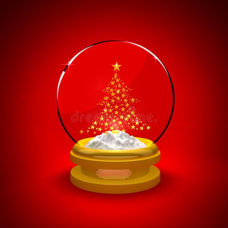Schnee-Kugel mit Weihnachtsbaum vektor abbildung