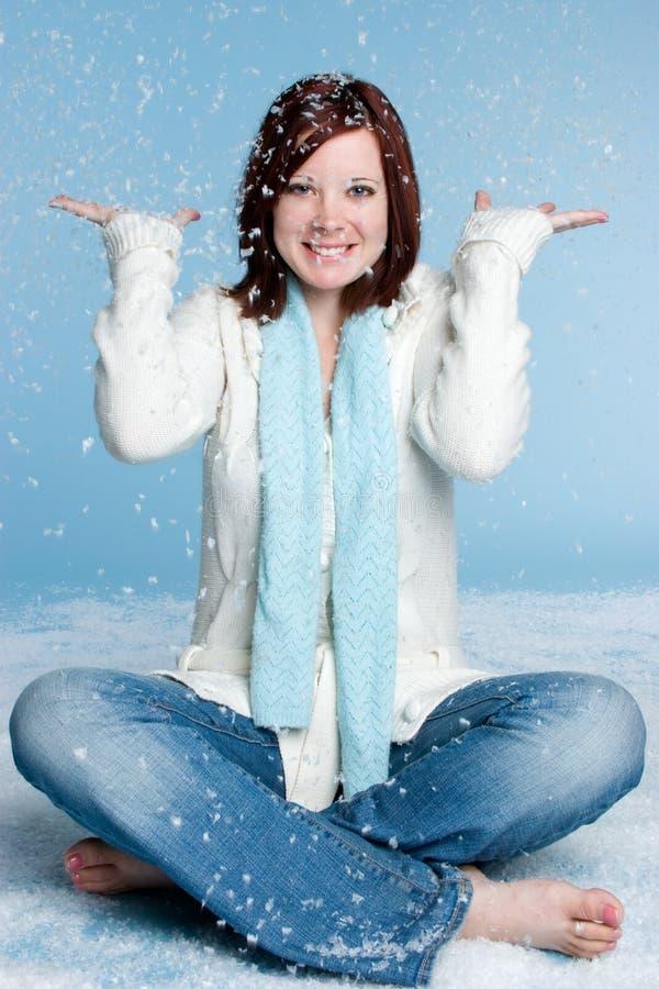 Schnee-Mädchen stockbild