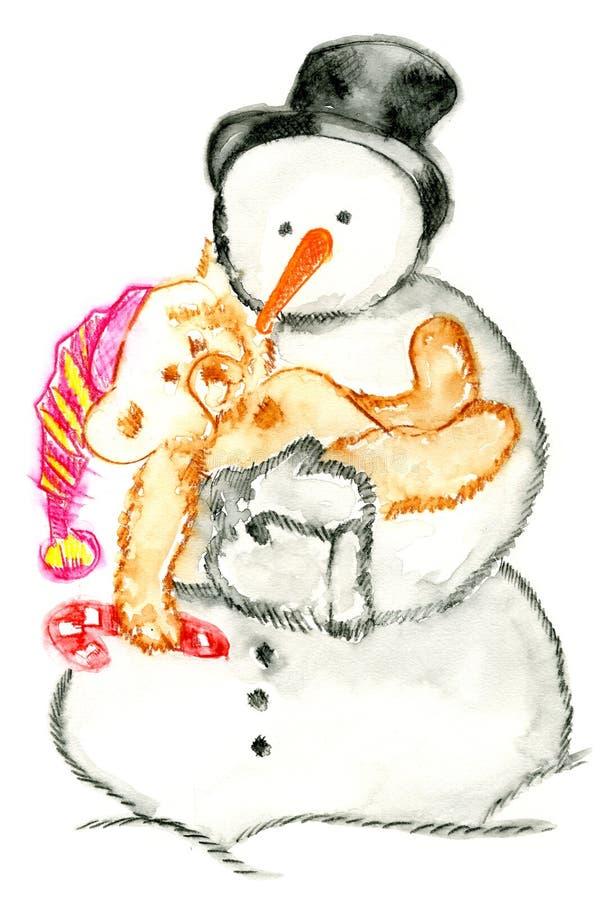 Schnee-Mann lizenzfreies stockfoto