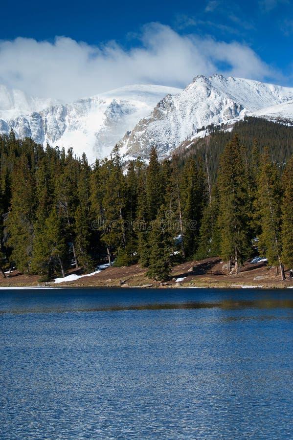 Schnee mit einer Kappe bedecktes Kolorado Rockies lizenzfreie stockbilder